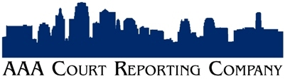 AAA Court Reporting Company Logo